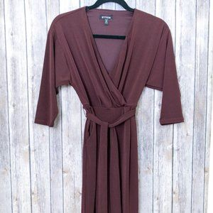 NWOT Express Maroon Belted Jumpsuit Petite 2XS